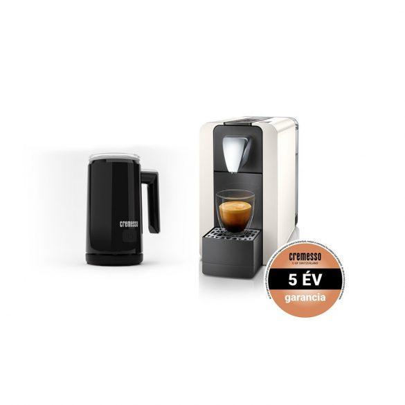 Cremesso Compact One II kapszulás kávéfőző ajándék tejhabosítóval 19 bar Fehér